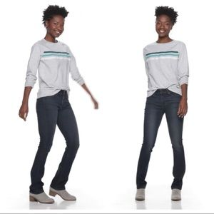 Sonoma Goods For Life™ Midrise Curvy Bootcut Jeans